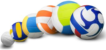Volleyball. Ball Sport Sphere Isolated White Sports Team stock photos