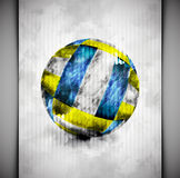 Volleyball ball watercolor Royalty Free Stock Images