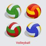 Volleyball ball  on a white background as a sports and fitness symbol of a team leisure activity playing with a Stock Image
