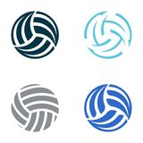 Volleyball balls royalty free illustration