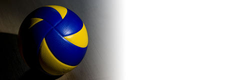Volleyball banner. Horizontal banner with professional, official volleyball Stock Photos