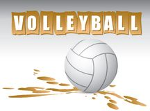 Volleyball banner Stock Photo