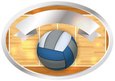 Volleyball Banner and Emblem Design Illustration Stock Photography
