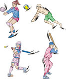 Volleyball and Baseball Stock Images