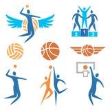 Volleyball_Basketball_Icons 库存照片
