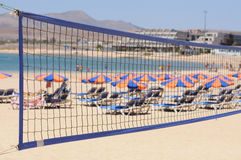 Volleyball on the beach Stock Photos