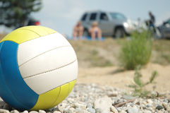 Volleyball on the beach Stock Photos