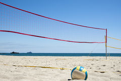 Volleyball on the beach. Royalty Free Stock Image