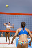 Volleyball in Beach Royalty Free Stock Photos