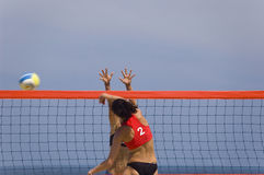 Volleyball in Beach Stock Photo