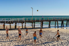 Volleyball at the beach Stock Photos