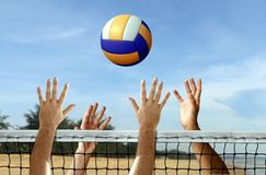 Volleyball at the beach Stock Photography