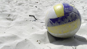 Volleyball beach on white sand Royalty Free Stock Photo