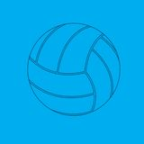 Volleyball blueprint. Blueprint drawing of a volleyball Royalty Free Stock Image
