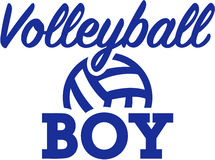 Volleyball boy with ball Stock Photo