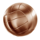 Volleyball in bronze Royalty Free Stock Images