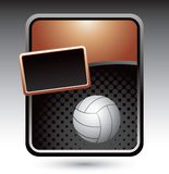 Volleyball on bronze stylized advertisement Royalty Free Stock Photo