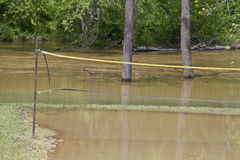 Volleyball Canceled Due to Flood Royalty Free Stock Photo