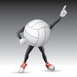 Volleyball character striking a pose Stock Images