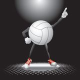Volleyball charcter under the spotlight Stock Photos