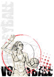 Volleyball circle poster background Stock Photos