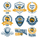 Volleyball Club Emblems Royalty Free Stock Photography