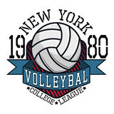 Volleyball College League New YorkT-shirt Royalty Free Stock Photos