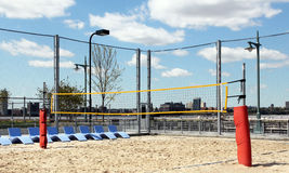 Volleyball court. Volleyball court in lower manhattan Royalty Free Stock Photo