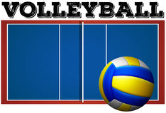 Volleyball court and ball Royalty Free Stock Photography