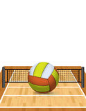 Volleyball on a Court Illustration Royalty Free Stock Photos