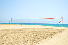 Volleyball court under sun Stock Images