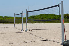 Volleyball courts on the beach Stock Photos