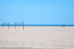 Volleyball courts on Venice Beach Royalty Free Stock Photo