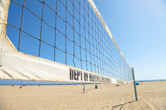 Volleyball courts on Venice Beach Stock Photography