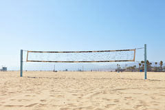 Volleyball courts on Venice Beach Royalty Free Stock Images