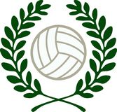 VOLLEYBALL CREST Stock Photo