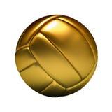 Volleyball d'or Image libre de droits