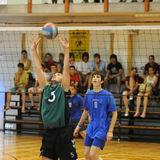 volleyball d'action Photos libres de droits