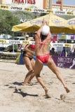volleyball d'excursion de fontana de crocs d'avp Image libre de droits