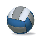 Volleyball d'isolement sur l'illustration blanche Images stock