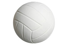 Volleyball d'isolement sur un fond blanc avec le chemin de coupure Photo stock