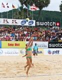 volleyball de joueurs Image stock