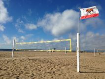 Volleyball de la Californie Photographie stock