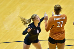 2015 volleyball de NCAA - le Texas @ la Virginie Occidentale Photos libres de droits