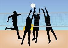 Volleyball de pièce de filles Photographie stock