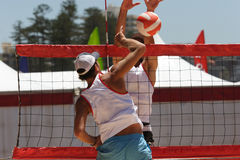 Volleyball de plage Photo libre de droits