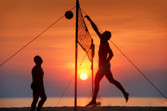 Volleyball de plage Photo stock