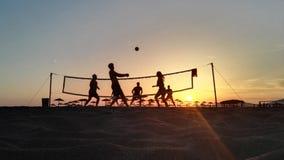 Volleyball de plage Photos libres de droits
