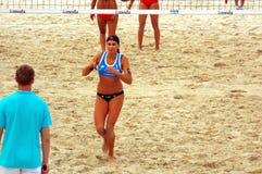 Volleyball 2015 de plage de tournoi de claquement de glande de Moscou Image stock
