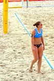 Volleyball 2015 de plage de tournoi de claquement de glande de Moscou Photo stock